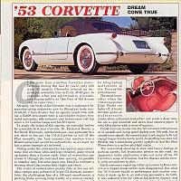 Corvette Retrospective; Motor Trend, March 1993 by Administrator