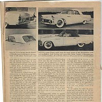 1954 Corvette vs. 1955 Thunderbird; Motor Trend, June 1954 by Administrator