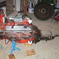 71 corvette engine out - before by Shark