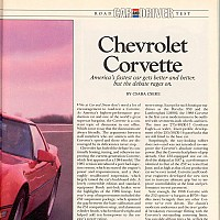 1988 Corvette; Car and Driver, Maj 1988 by david