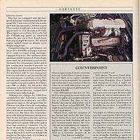 1988 Corvette; Car and Driver, Maj 1988 by david