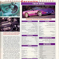 Side 3, Callaway Supernatural Convertible Motor Trend, March 1993 by david
