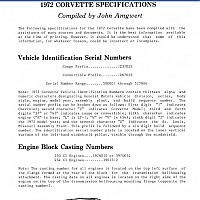 1972 corvette dokumentation by david