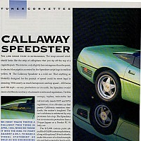 Side 1, Callaway Speedster  Sports Car Illustrated, May 1991 by david