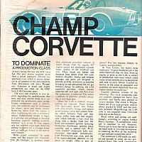 Car Life, April 1970 - 1968 SCCA L-88 Race Car