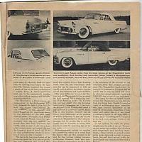 1954 Corvette vs. 1955 Thunderbird; Motor Trend, June 1954 by david
