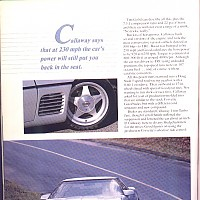 side 5, Callaway Sledgehammer; Road and Track Special, 1988 by david